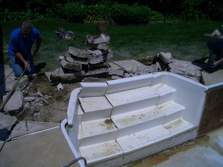Inground Pool Steps Replacement Bing Images