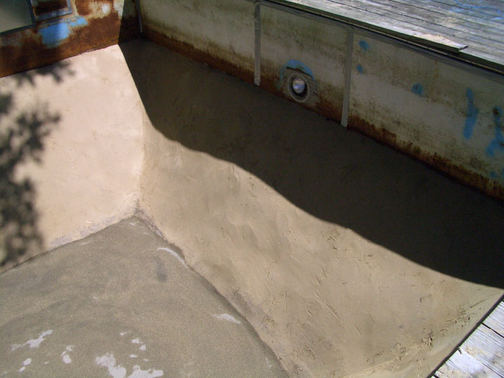 New in ground pool liner installation