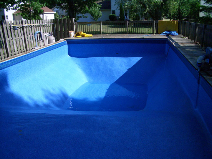 Repaired pool ready for summer fun